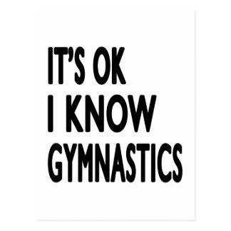 It s OK I Know Gymnastics Dance Post Cards