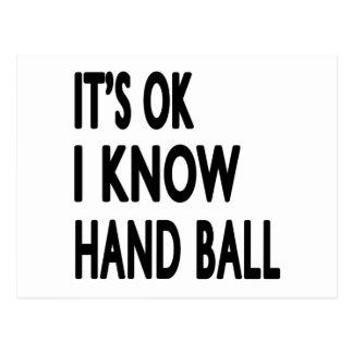It s OK I Know Hand Ball Dance Postcard