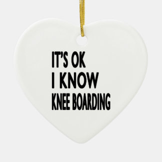 It s OK I Know Knee Boarding Christmas Tree Ornaments