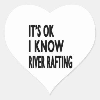 It s OK I Know River Rafting Stickers