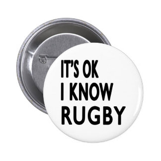 It s OK I Know Rugby Pins