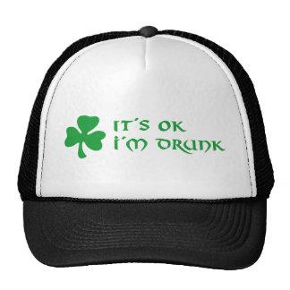 it´s ok i´m drunk shamrock st. Patrick´s day Hat