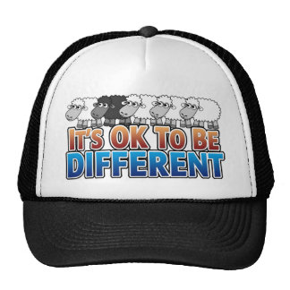 It s OK to be Different BLACK SHEEP Mesh Hat