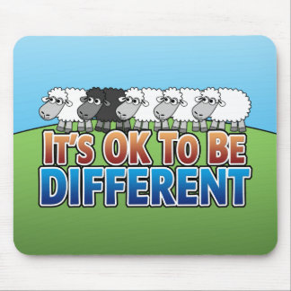 It s OK to be Different BLACK SHEEP Mouse Pads