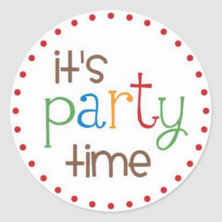 It s Party Time Stickers