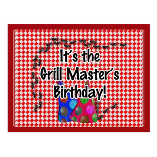 It s the Grill Master s Birthday Party Post Card