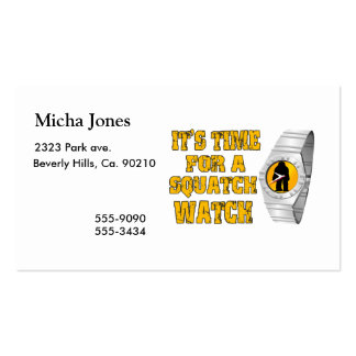 It s Time For A Squatch Watch Business Card