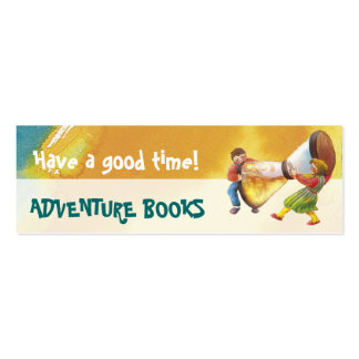 It s time for fun bookmark for young books lovers business cards