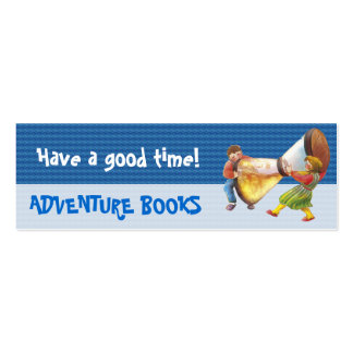 It s time for fun bookmark for young books lovers business card template