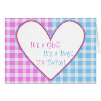 It´s Twins! Card