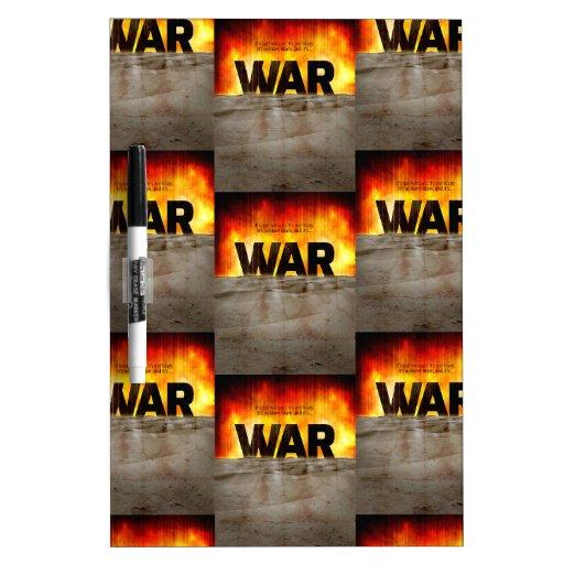 It's War Dry-Erase Whiteboards