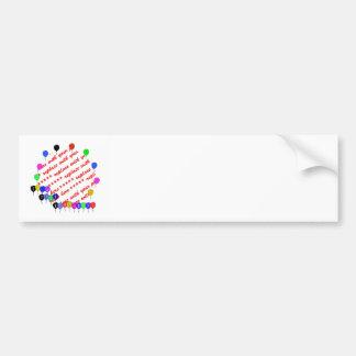 It s your Birthday Birthday Balloons Photo Frame Bumper Sticker