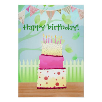 It s your birthday poster print