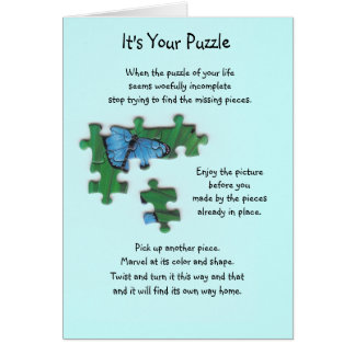 It s Your Puzzle Card Butterfly