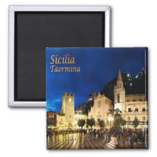 IT - Sicily - Taormina By Night Magnet