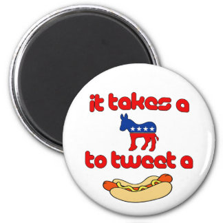 It Takes a Jackass (Democrat) To Tweet A Weiner 6 Cm Round Magnet