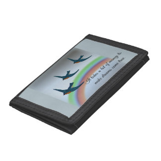 """""""It takes a lot of money"""" with Bluebirds, Rainbow Tri-fold Wallets"""