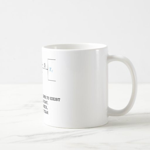 It Takes A Lot Of Work To Exist (Thermodynamics) Coffee Mugs
