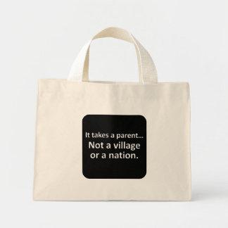 It takes a parent 1 mini tote bag