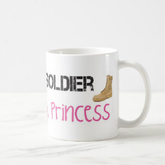 It Takes A Soldier To Love A Princess Basic White Mug