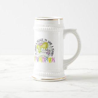 It Takes A Village Beer Stein Mug