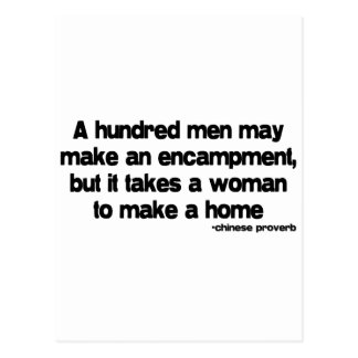 It Takes a Woman quote Post Card