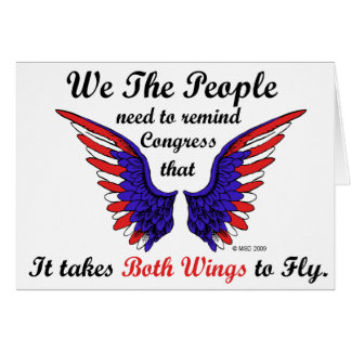 It Takes Both Wings to Fly Greeting Cards