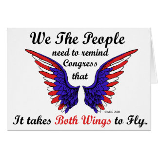 It Takes Both Wings to Fly Horizontal Notecards Note Card