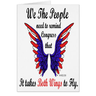 It Takes Both Wings to Fly Notecards Note Card