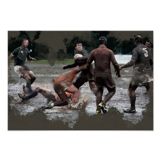 It Takes Leather Balls to Play Rugby Poster