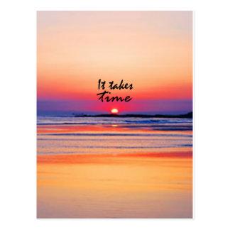 It Takes Time Postcard