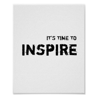 It' time to Inspire. Poster