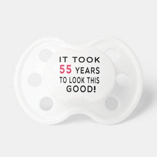 It Took 55 Years Birthday Designs Baby Pacifiers