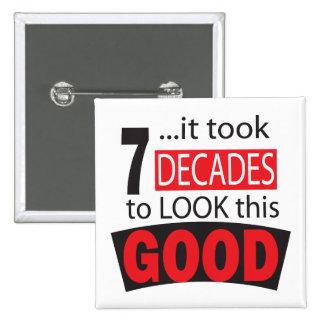 It Took 7 Decades to Look this GOOD 15 Cm Square Badge