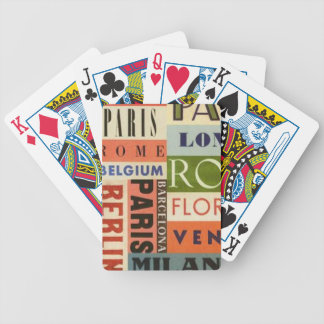 It travels to Europe - Letters of Poker Bicycle Playing Cards