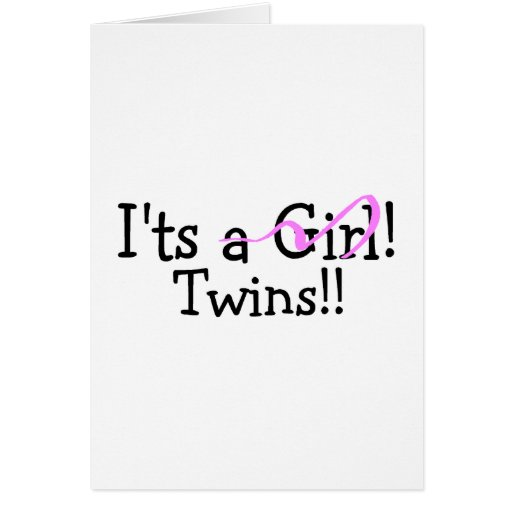 It Twins Girl Twins Greeting Card