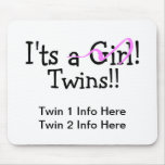It Twins Girl Twins Mouse Mats