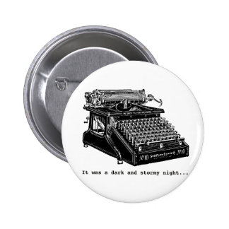 It was a Dark and Stormy Night 6 Cm Round Badge