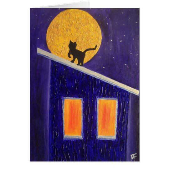 It was A Moonli Night - Greeting Card