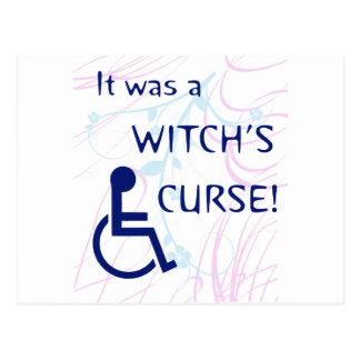 It Was A Witch s Curse Disability Post Cards