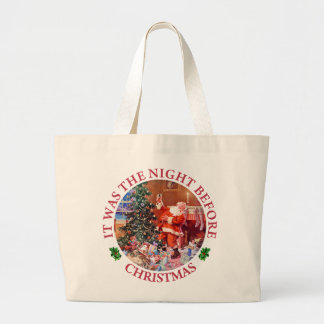 It Was The Night Before Christmas Canvas Bag