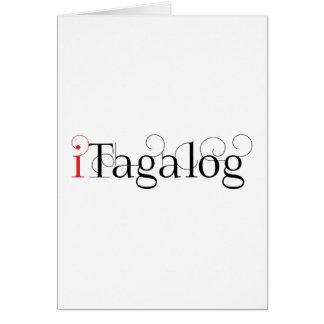 ITAGALOG GREETING CARD