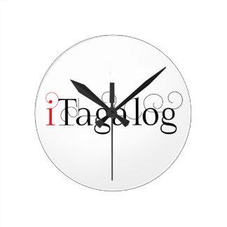ITAGALOG ROUND CLOCK