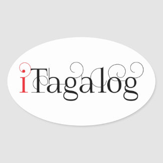 ITAGALOG OVAL STICKER