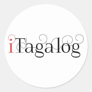 ITAGALOG ROUND STICKER