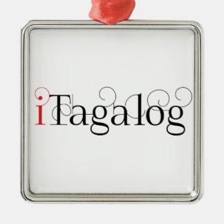 ITAGALOG Silver-Colored SQUARE DECORATION