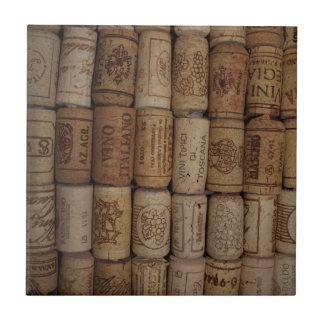 Italain Wine Cork Collection Tile