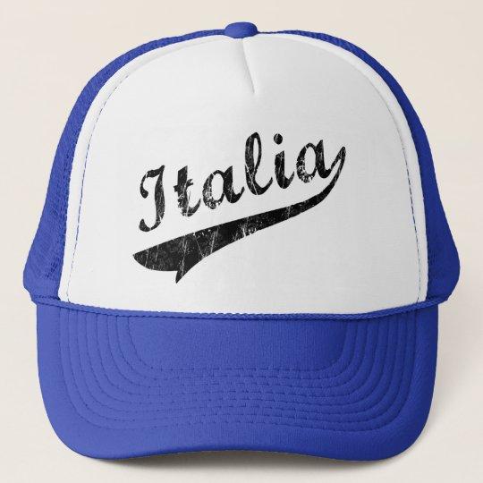 Italia Baseball Logo Retro Trucker Hat