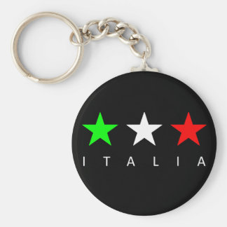 Italia Basic Round Button Key Ring