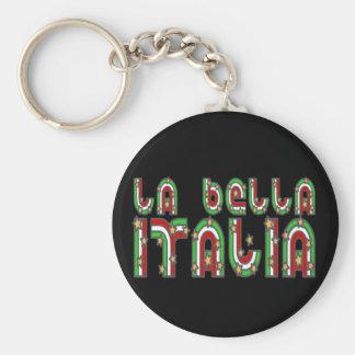 Italia Basic Round Button Key Ring